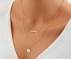 delicate, etsy, and gold necklace image