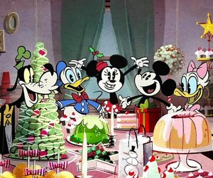 christmas, disney, and donald duck image