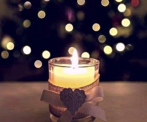 candels, christmas, and decorations image