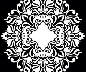 overlay, black, and mandala image