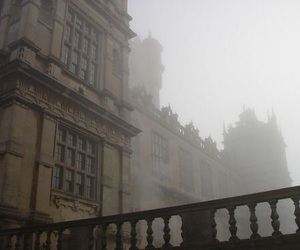 fog, architecture, and dark academia image