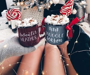 christmas, cozy, and marshmallow image