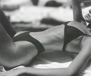 aesthetic, bikini, and black and white image