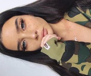 beautiful, camo, and freckles image