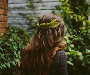 hair, nature, and green image