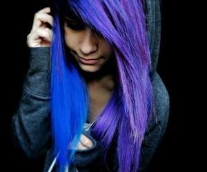beautiful, purple, and emo image