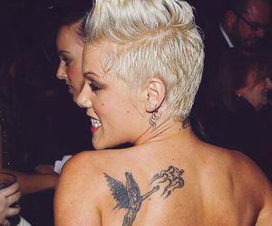 blonde, fashion, and tattoo image