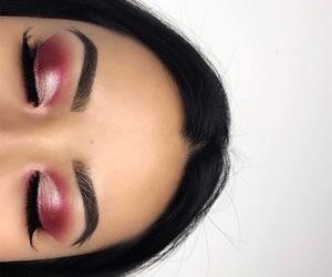 beauty, black hair, and long eyelashes image