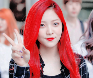 edit, hair, and red image