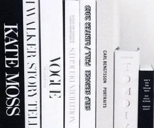 books, black, and white image