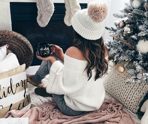 christmas, girl, and inspiration image
