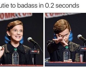 badass, eleven, and funny image