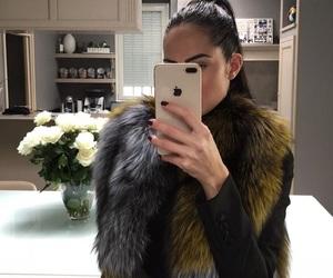 faux fur, sleek, and selfie image