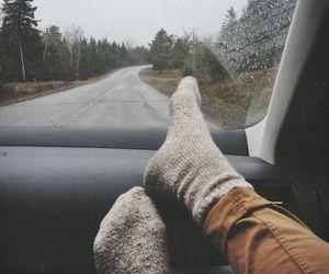socks, travel, and grunge image