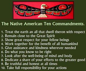 native american and words image