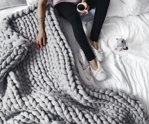 winter, blanket, and coffee image