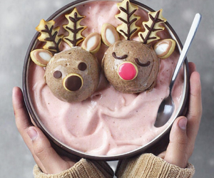 delicious, ice cream, and reindeer image