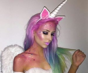 unicorn, Halloween, and makeup image