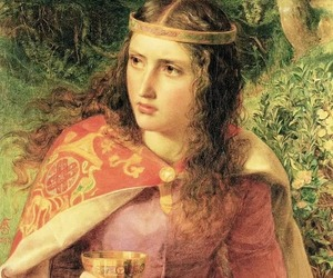 painting, Frederick Sandys, and queen eleanor image