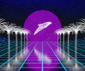 80s, dolphin, and purple image