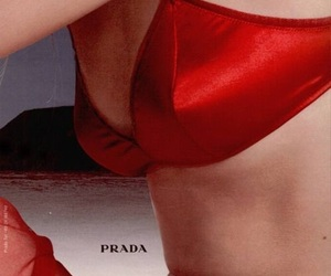 Prada, red, and aesthetic image