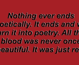 blood, poem, and red image