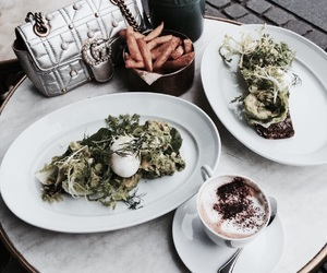 chic, green, and food image