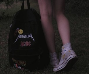 grunge, dark, and backpack image
