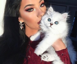 beauty and cat image