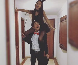 costume, couple, and goals image
