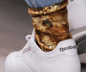 reebok, gold, and shoes image