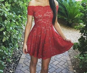 a-line homecoming dresses and prom dress lace image