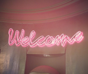 pink, welcome, and light image