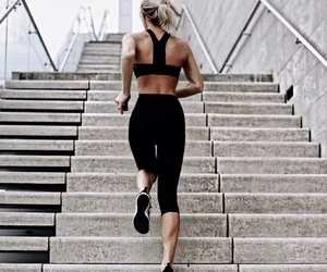 fitness and girl image