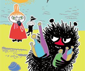 cartoon, nature, and moomin image