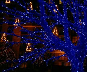 aesthetic, blue, and christmas image