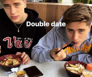 brothers, couples, and food image