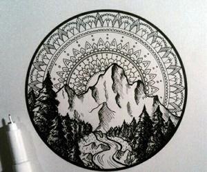art, mandala, and tattoo image