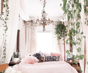bedroom and plants image
