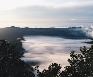 clouds, indonesia, and mountain image