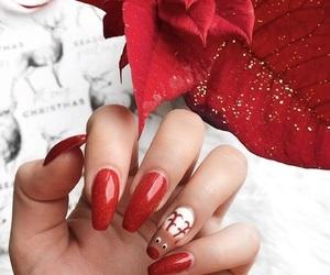 christmas, fashion, and nails image