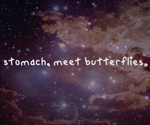 butterfly, stomach, and sky image