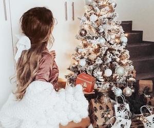 christmas, gifts, and girl image