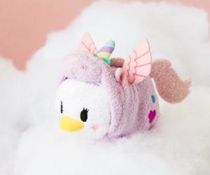 unicorn, daisy duck, and tsum tsum image