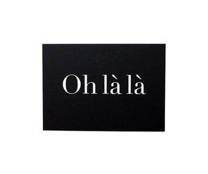oh la la, quotes, and black image