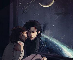 couple, kylo ren, and reylo image