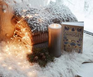 candle, lights, and winter image