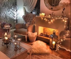 light, cozy, and christmas image