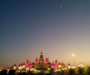 city, fantasy, and lights image