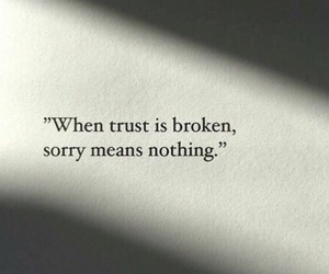 broken, lovequotes, and trust image